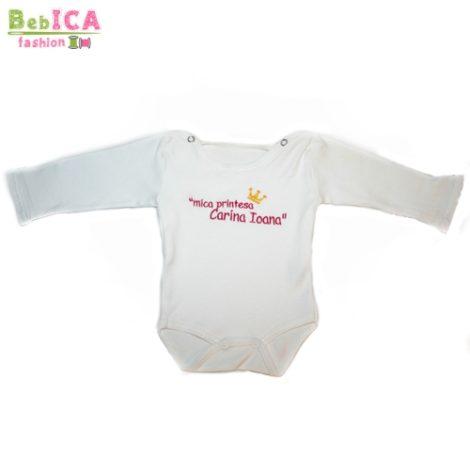 Body fetita personalizat prin broderie.