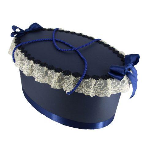 cutie trusou ovala bleumarin