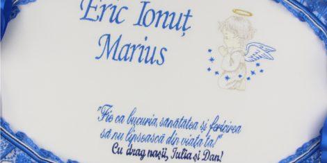 cutie trusou ovala inceras albastru
