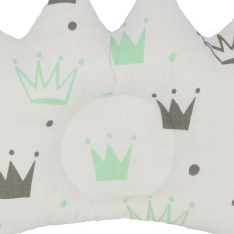 pernuta coroane, alb-gri-verde