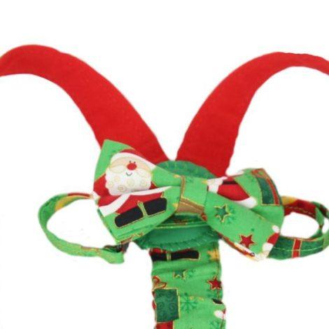 bretele papion mos Craciun verde2
