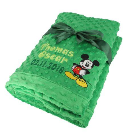 paturica plush minky mickey verde