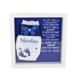 ama personalizata camera bebe albastru