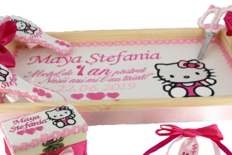 set tavita mot Hello Kitty personalizata